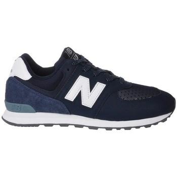 Schuhe Kinder Sneaker Low New Balance GC574D4 Weiß, Dunkelblau