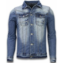 Kleidung Herren Jeansjacken Tony Backer Denim Jacke Stonewashed Look Blau