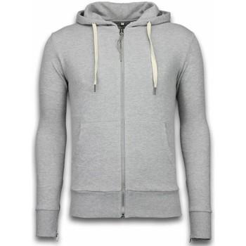 Kleidung Herren Sweatshirts Bb Bread & Buttons Hoodie Side Zippers Grau