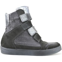 Schuhe Damen Sneaker High Beverly Hills Polo Club POLO keilgrau wildleder AJ15 grau