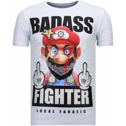 Kleidung Herren T-Shirts Local Fanatic Fight Club Mario Strass Weiß