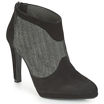 Schuhe Damen Low Boots Peter Kaiser PATRINA Schwarz / Grau