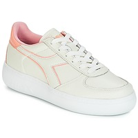 Schuhe Damen Sneaker Low Diadora B.ELITE L WIDE WN Naturfarben / Rose