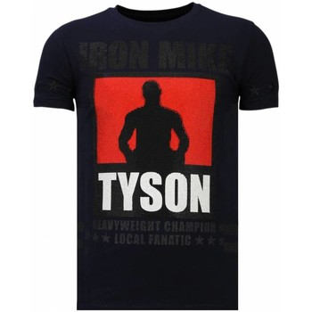 Kleidung Herren T-Shirts Local Fanatic Iron Mike Tyson Strass Blau