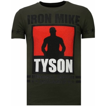Kleidung Herren T-Shirts Local Fanatic Iron Mike Tyson Strass Grün