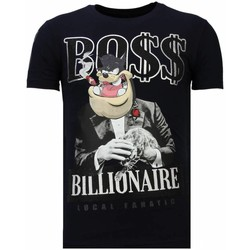 Kleidung Herren T-Shirts Local Fanatic Billionaire Boss Strass Blau