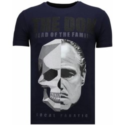 Kleidung Herren T-Shirts Local Fanatic The Don Skull Strass Blau