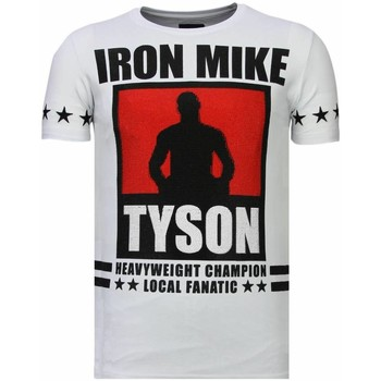 Kleidung Herren T-Shirts Local Fanatic Iron Mike Tyson Strass Weiß