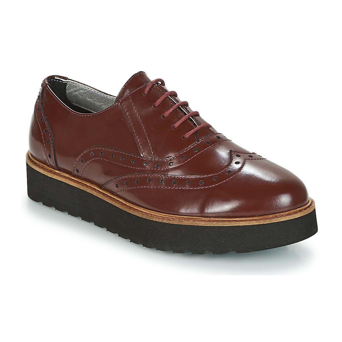 Ippon Vintage ANDY THICK Bordeaux - Kostenloser Versand bei Spartoode ! - Schuhe Derby-Schuhe Damen 155,00 €
