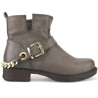 Schuhe Damen Ankle Boots Francescomilano stiefeletten braun leder AJ227 braun