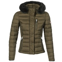 Kleidung Damen Daunenjacken Superdry FUJI SLIM DOUBLE ZIPHOOD Olive