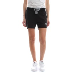 Kleidung Damen Shorts / Bermudas Converse 10007438 FLEECE SHORT BERMUDAS UND SHORTS Damen BLACK BLACK