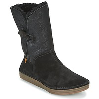 Schuhe Damen Boots El Naturalista RICE FIELD Schwarz