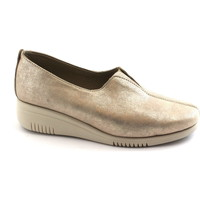 Schuhe Damen Slipper Grunland SIRA SC3762 Platin Beige Gold Schuhe Frau elastischen Unterlegk Oro