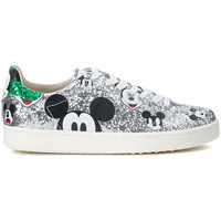 Schuhe Damen Sneaker Low Moa - Master Of Arts MoA Micky Mouse Silver Glitter Sneakers Silber