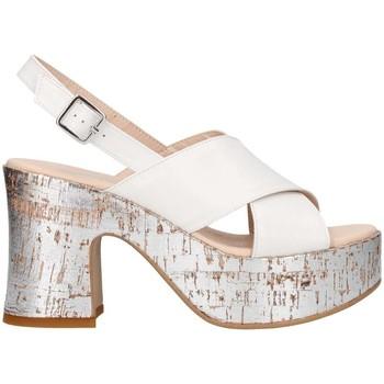 Schuhe Damen Sandalen / Sandaletten Martina B Mbss18-217-mu weiß