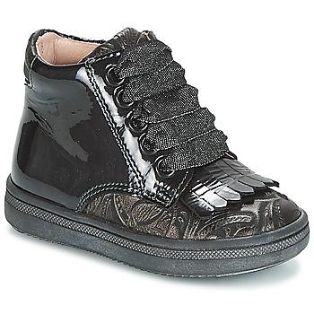 Schuhe Mädchen Sneaker High Acebo's DOLAGIRI Schwarz / Silbern