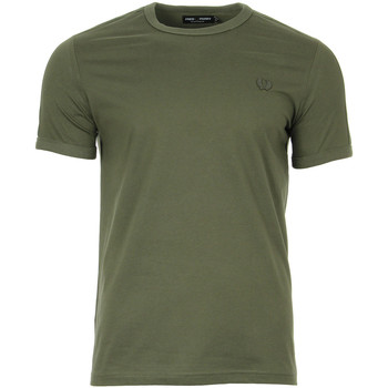 Kleidung T-Shirts Fred Perry Tonal Taped Ringer T-Shirt Grün
