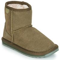 Schuhe Mädchen Boots EMU WALLABY MINI Kaki