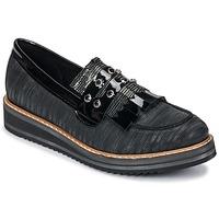 Schuhe Damen Slipper Regard RUVOLO V1 ZIP NERO Schwarz