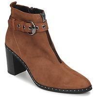 Schuhe Damen Low Boots Philippe Morvan AXEL V4 CHEV VEL Camel