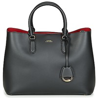 Taschen Damen Handtasche Lauren Ralph Lauren DRYDEN MARCY SATCHEL LARGE Schwarz / Rot