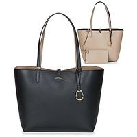 Taschen Damen Shopper / Einkaufstasche Lauren Ralph Lauren MERRIMACK REVERSIBLE TOTE MEDIUM Schwarz / Maulwurf