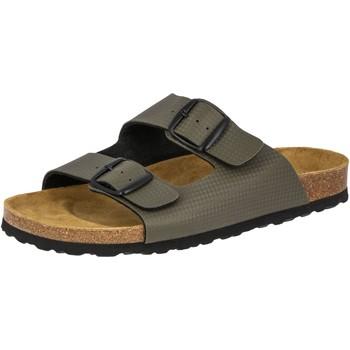 Schuhe Herren Pantoffel Lico Bioline metal grün