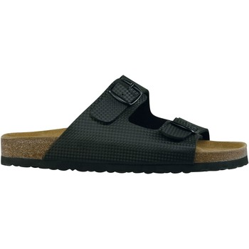 Schuhe Herren Pantoffel Lico Bioline metal schwarz