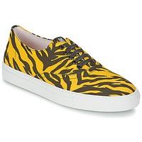Schuhe Damen Sneaker Low Moschino Cheap & CHIC LIBORIA Gelb / Schwarz