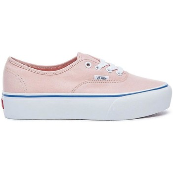 Schuhe Damen Sneaker Low Vans ZAPATILLAS  AUTHENTIC PLATFOR CANVAS Rosa