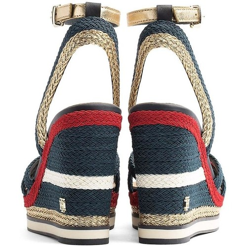 Tommy Hilfiger CORPORATE WEDGE SANDAL SPORTY Blue