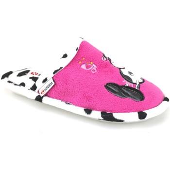 Schuhe Mädchen Hausschuhe Superga pantoffeln pink fucsia textil AJ742 pink
