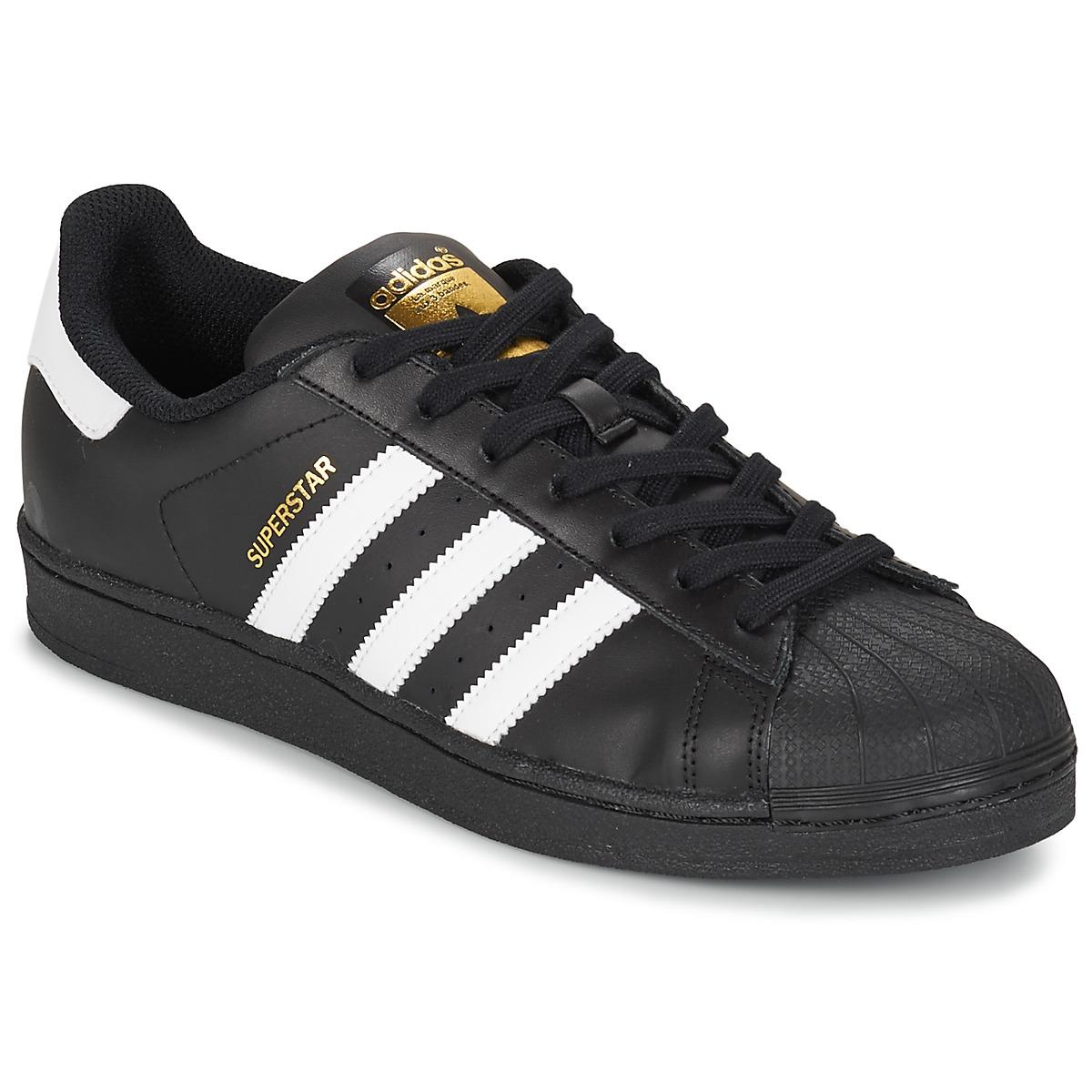 adidas Originals SUPERSTAR FOUNDATION Weiss / Schwarz - Kostenloser Versand bei Spartoode ! - Schuhe Sneaker Low Herren 79,96 €