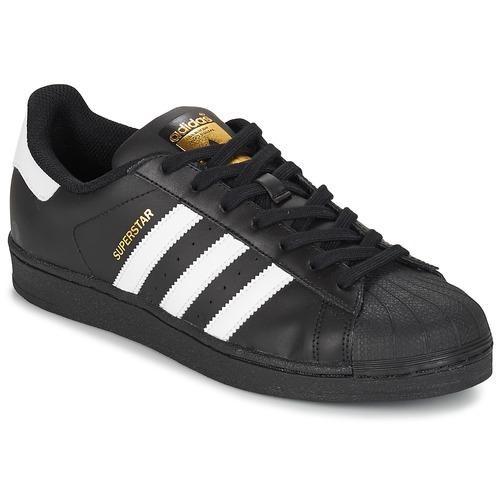 adidas Originals SUPERSTAR FOUNDATION Weiss / Schwarz  Schuhe Sneaker Low Herren