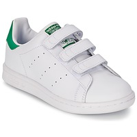 Schuhe Kinder Sneaker Low adidas Originals STAN SMITH CF C Weiss / Grün