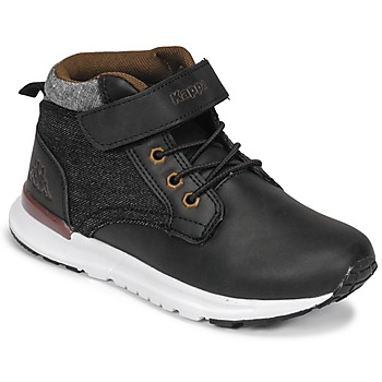 Schuhe Jungen Sneaker High Kappa TELMO EV Schwarz