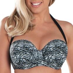 Kleidung Damen Bikini Ober- und Unterteile Curvy Kate CS4941 BLK/WHI Schwarz
