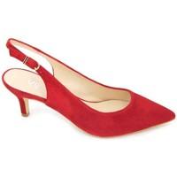 Schuhe Damen Sandalen / Sandaletten Calzados Vesga Estiletti 2345 Zapatos de Vestir de Mujer rot