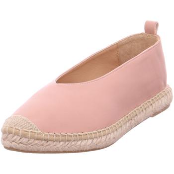Schuhe Damen Leinen-Pantoletten mit gefloch Kanna - KV8039 Natur Make-Up