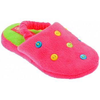 Schuhe Kinder Hausschuhe De Fonseca Button Art pantoffeln hausschuhe Rose