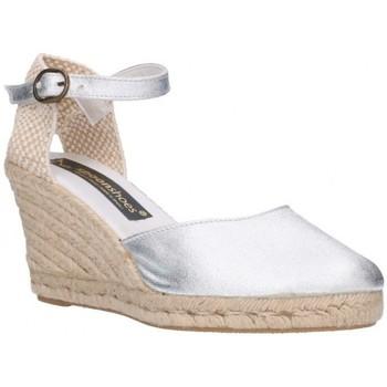 Schuhe Herren Leinen-Pantoletten mit gefloch Fernandez 682  7C    Plata (soleil) Argenté