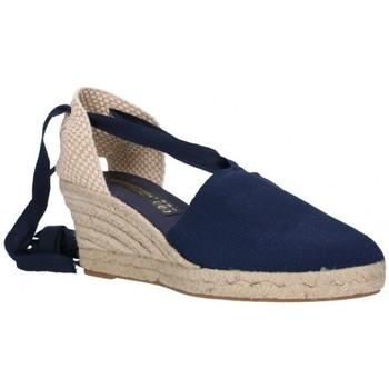 Schuhe Herren Leinen-Pantoletten mit gefloch Fernandez VALENC. CINTAS bleu
