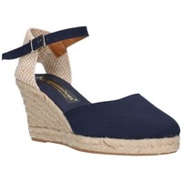 Schuhe Herren Leinen-Pantoletten mit gefloch Fernandez 682  7C - Azul marino bleu