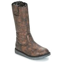 Schuhe Mädchen Klassische Stiefel Mod'8 ALTANA Schwarz / Bronze