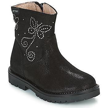 Schuhe Mädchen Boots Garvalin COSMOPOLITAN SERRAJE Schwarz / Silbern