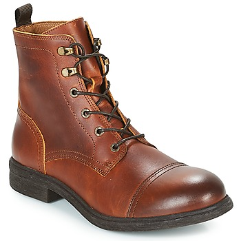 Schuhe Herren Boots Selected TERREL LEATHER BOOT Cognac