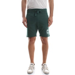 Kleidung Herren Shorts / Bermudas Converse 10007306 FLEECE SHORT RAW CUT BERMUDAS UND SHORTS Herren GREEN GREEN