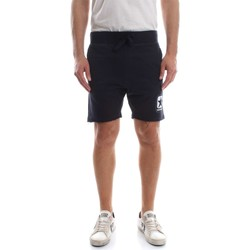 Kleidung Herren Shorts / Bermudas Converse 10007306 FLEECE SHORT RAW CUT BERMUDAS UND SHORTS Herren BLUE BLUE