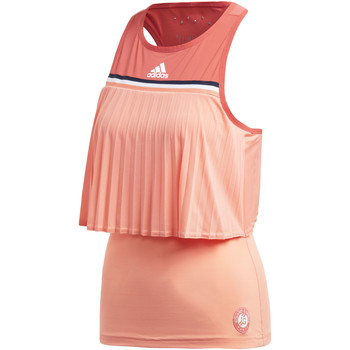 Kleidung Damen Tops adidas Performance Roland Garros Tanktop orange